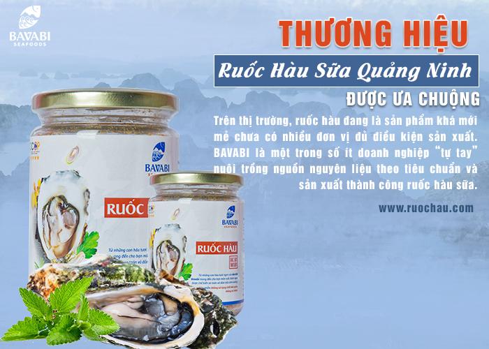 Thương hiệu ruốc hàu sữa Quảng Ninh được ưa chuộng