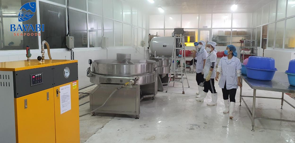 quy trình sản xuất bên trong nhà máy bavabi vân đồn Quảng Ninh