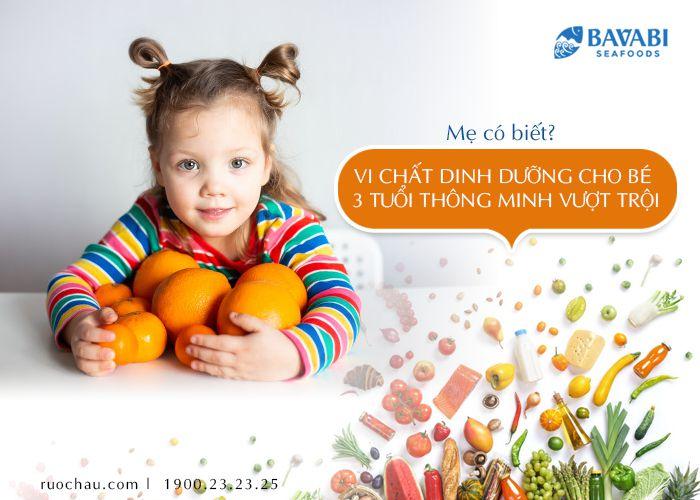 dinh dưỡng cho bé 3 tuổi
