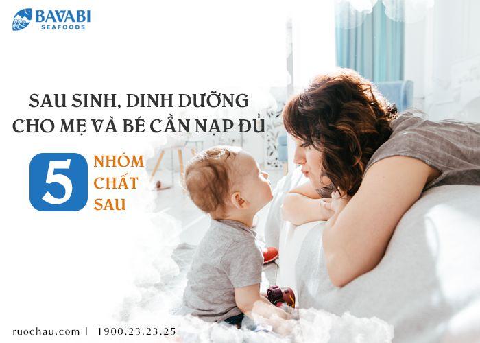 dinh dưỡng cho mẹ và bé